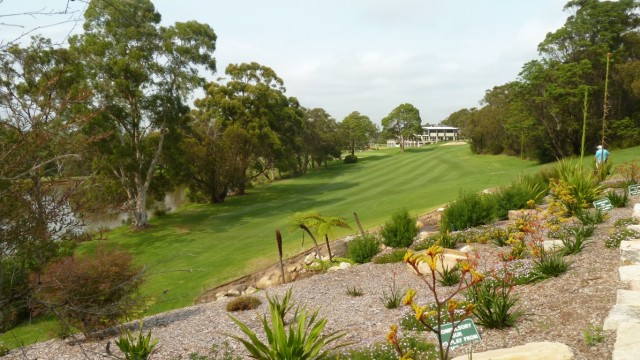 The 18th fairway at Monash Country Club