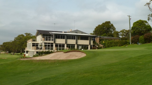 The 18th green at Monash Country Club