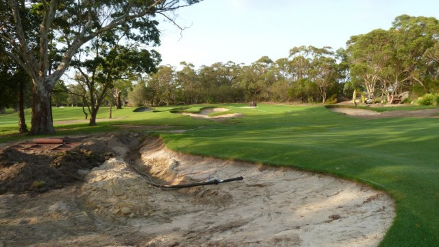 Construction on the 8th fairway at Monash Country Club