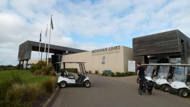 The clubhouse at Moonah Links