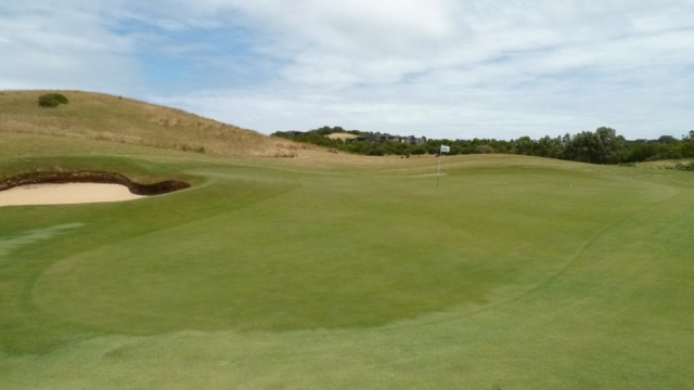 The 10th green at Moonah Links Open Course
