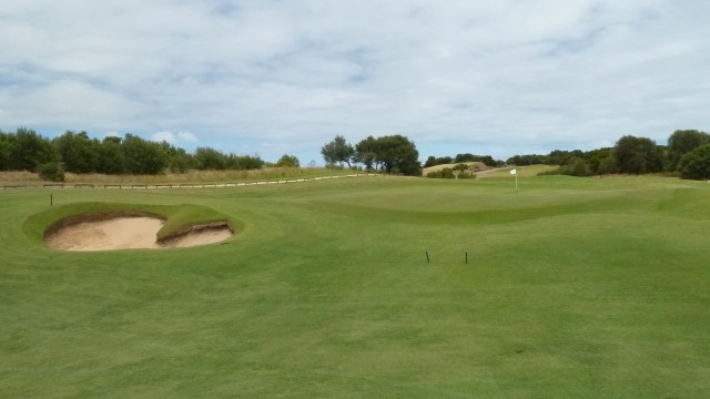The 12th green at Moonah Links Open Course