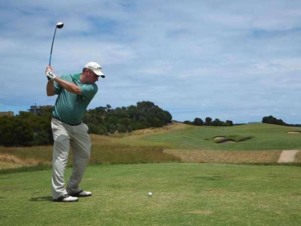 The 12th tee at Moonah Links Open Course