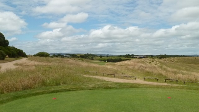 The 14th tee at Moonah Links Open Course