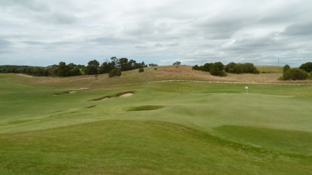 The 15th green at Moonah Links Open Course