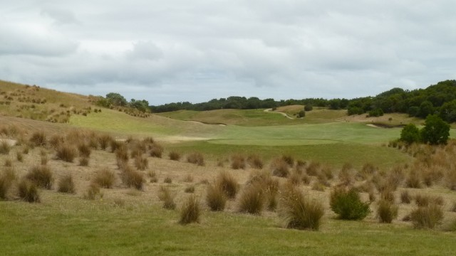 The 16th tee at Moonah Links Open Course