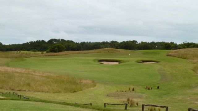 The 17th tee at Moonah Links Open Course