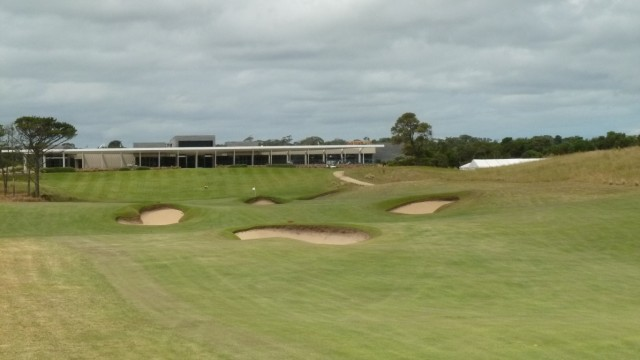 The 18th fairway at Moonah Links Open Course