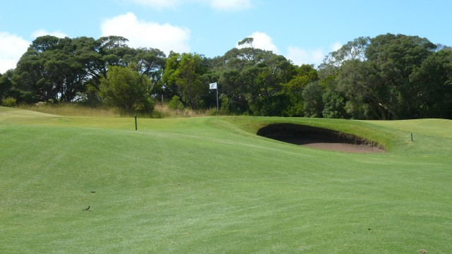 The 1st green at Moonah Links Open Course