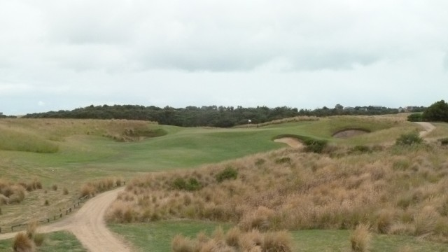 The 5th tee at Moonah Links Open Course