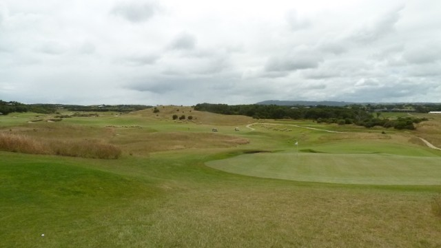 The 7th green at Moonah Links Open Course