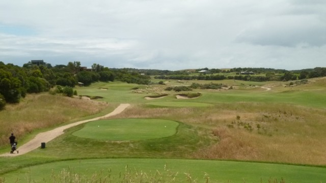 The 8th tee at Moonah Links Open Course