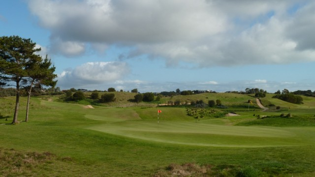 The 9th green at Moonah Links Open Course