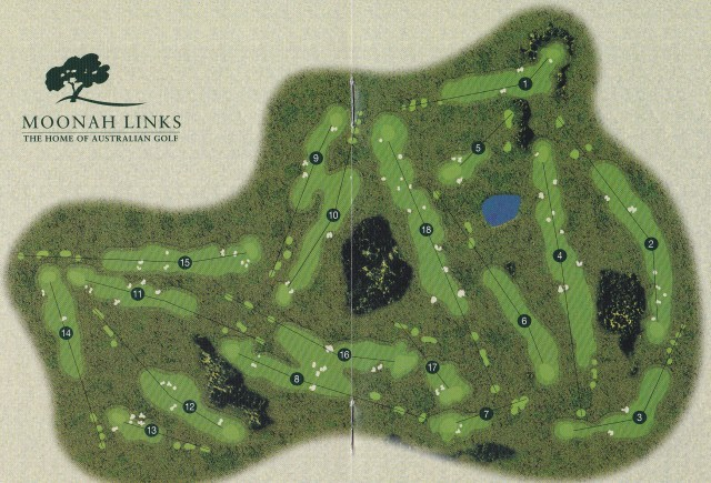 Map of Open Course at Moonah Links