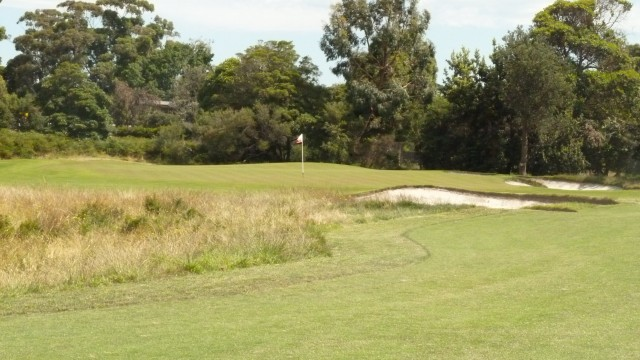 The 12th green at Royal Melbourne Golf Course (West)