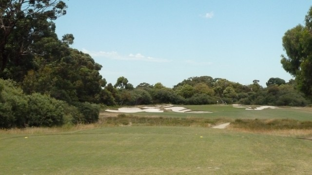 The 16th tee at Royal Melbourne Golf Course (West)