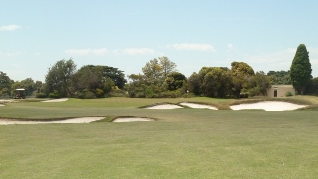 The 18th fairway at Royal Melbourne Golf Course (West)