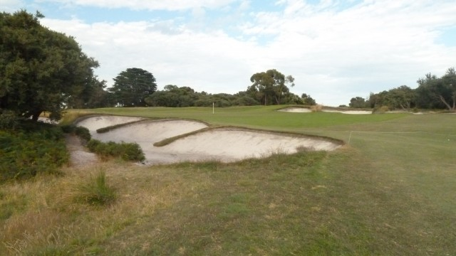 The 2nd green at Royal Melbourne Golf Course (West)