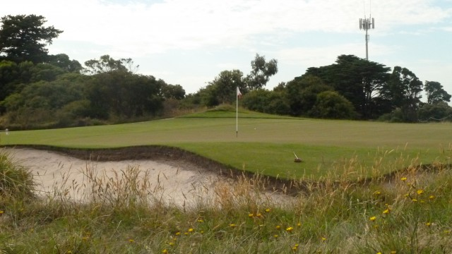 The 4th green at Royal Melbourne Golf Course (West)