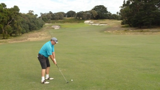 The 6th fairway at Royal Melbourne Golf Course (West)