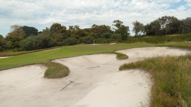 The 6th green at Royal Melbourne Golf Course (West)