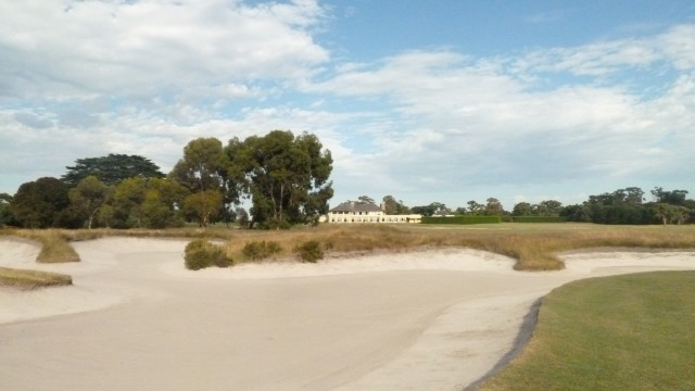 The clubhouse at Royal Melbourne Golf Course