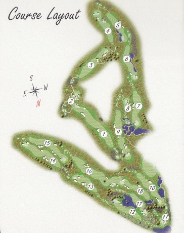 Course map for Settlers Run Golf Club