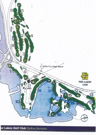 Map of The Lakes Golf Club