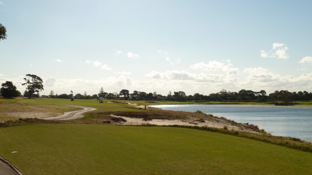 The 11th tee at The Lakes Golf Club