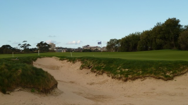 The 12th green at The Lakes Golf Club