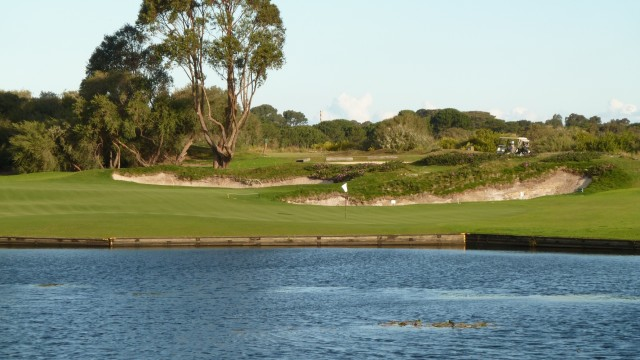 The 14th fairway at The Lakes Golf Club