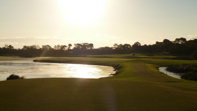 The 17th tee at The Lakes Golf Club