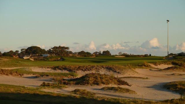 The 18th tee at The Lakes Golf Club