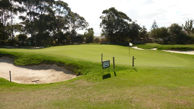 The 5th green at The Lakes Golf Club