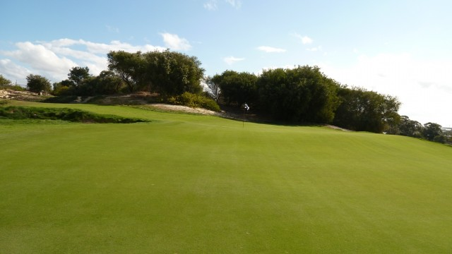 The 7th green at The Lakes Golf Club