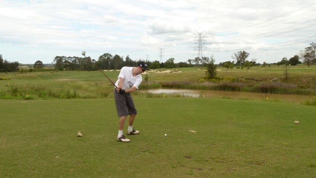 The 12th tee at Twin Creeks Golf & Country Club