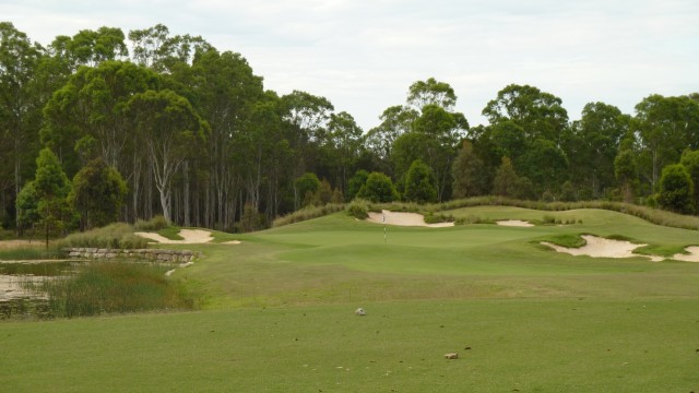 The 17th tee at Twin Creeks Golf & Country Club