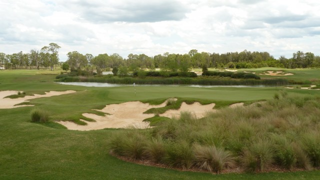 The 18th green at Twin Creeks Golf & Country Club