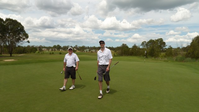 My playing partners at Twin Creeks Golf & Country Club