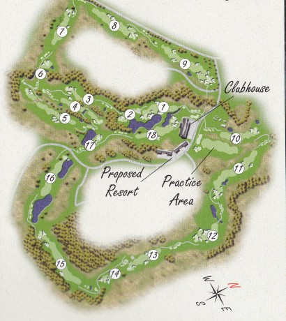 Course map for Twin Creeks Golf & Country Club