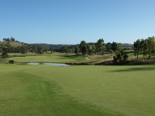 The 2nd green at Heritage Golf & Country Club St Johns Course