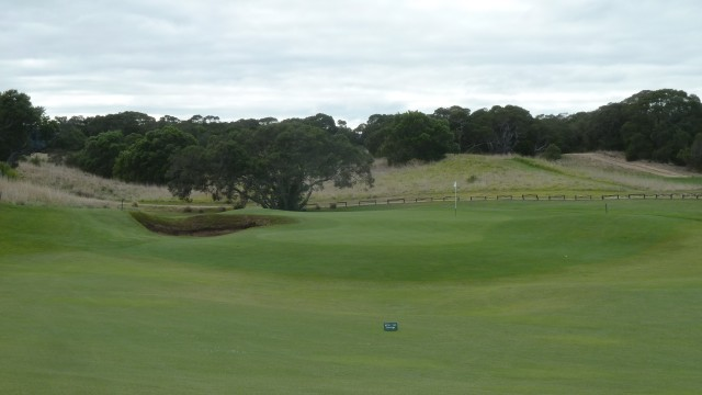 The 4th green at Moonah Links Open Course