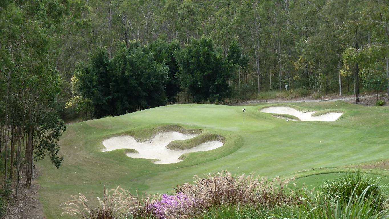 The 5th tee at Brookwater Golf & Country Club