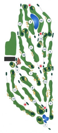 Course map for Commonwealth Golf Club