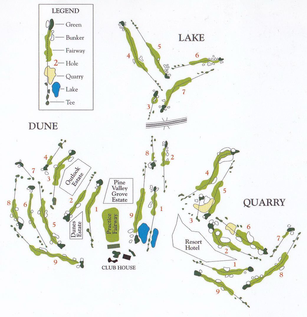 course map for joondalup golf resort