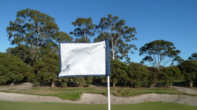 The pinflags at Kingston Heath Golf Club