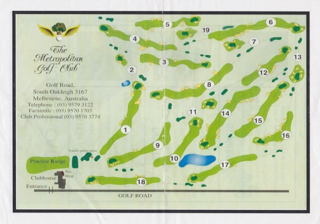 Course map for Metropolitan Golf Club