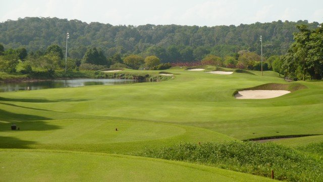 The 18th tee at Ria Bintan Golf Club Ocean Course
