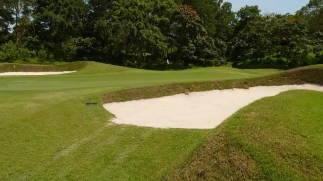 The 6th green at Ria Bintan Golf Club Ocean Course
