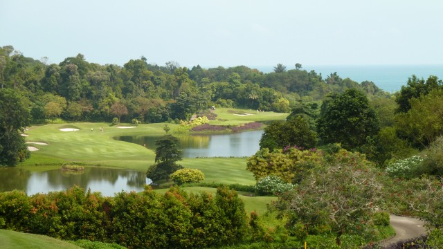 View from the clubhouse at Ria Bintan Golf Club